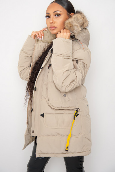 Days Like This Beige Hooded Jacket