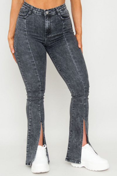 Play It Cool Grey Flared Jeans