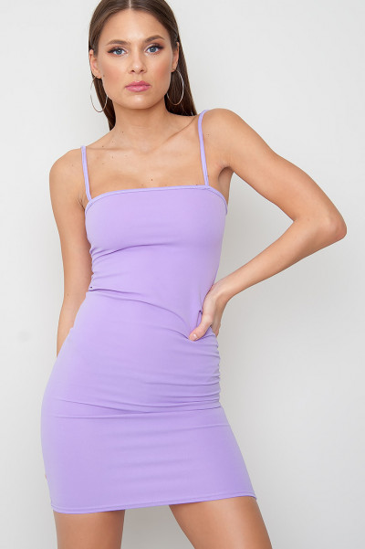 Strappy Bodycon Klänning - Ace Purple
