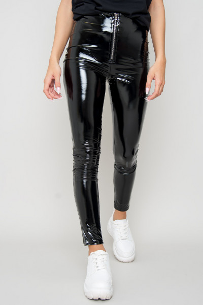 Vinyl Zip Pants - Itzel