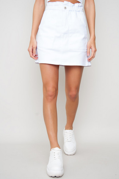 Denim Elastic Skirt - Nour Vit