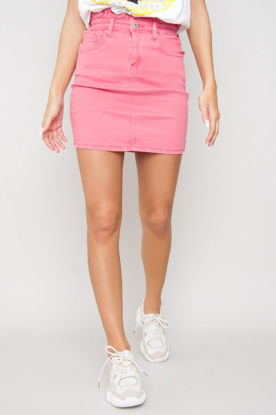 Tight Denim Elastic Skirt - Enni Rosa