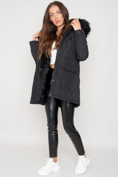 Be Warm Hooded Jacket Black