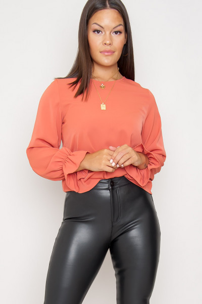 Sweet And Classy Blouse Coral