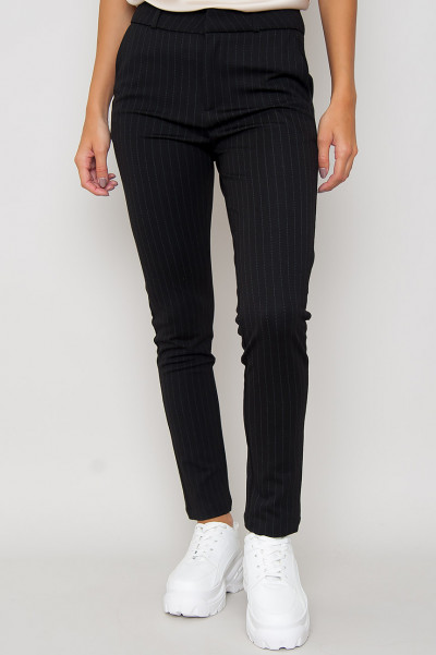 Black Slim Fit Byxor - Jackie