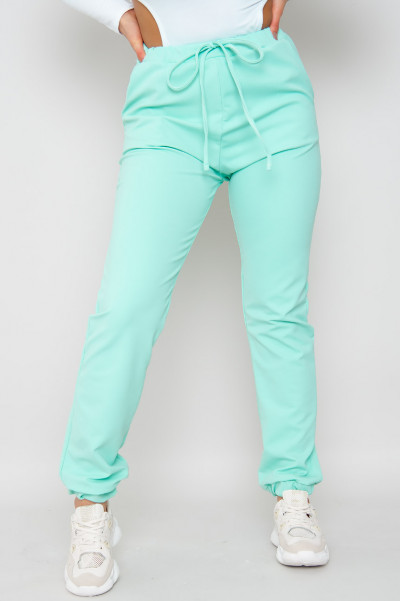Mint Green Late To Meeting Casual Joggers