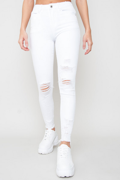 White Ripped Jeans - Dalai