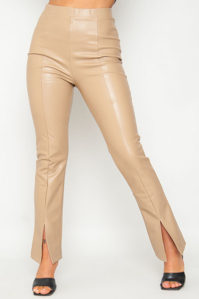 What If Faux Leather Pants Tan