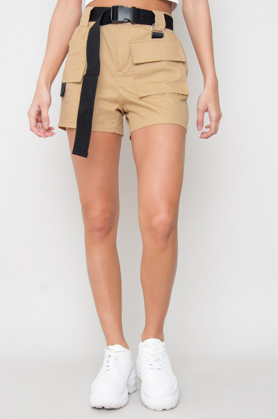 Beige Cargo Shorts - Rivers