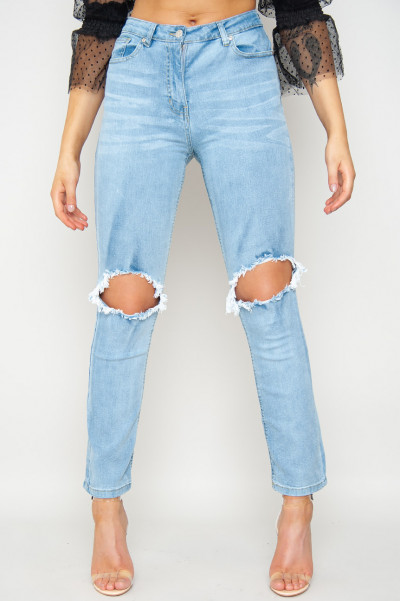 All Ripped Straight Leg Jeans
