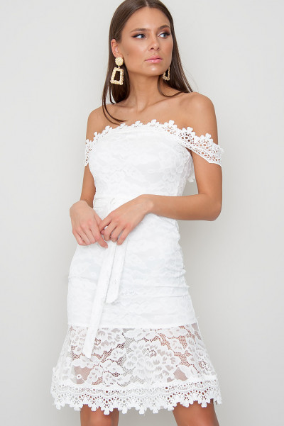 Bardot Lace Dress - Lauren