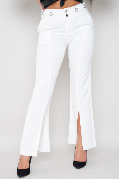 Break The Rules Slits Trousers White