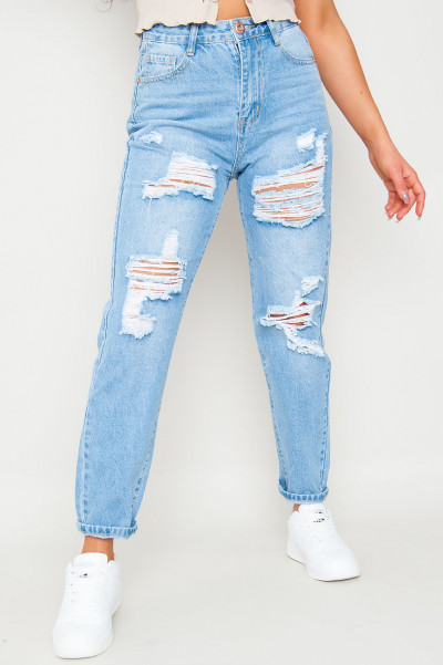 Me Not Caring Ripped Jeans