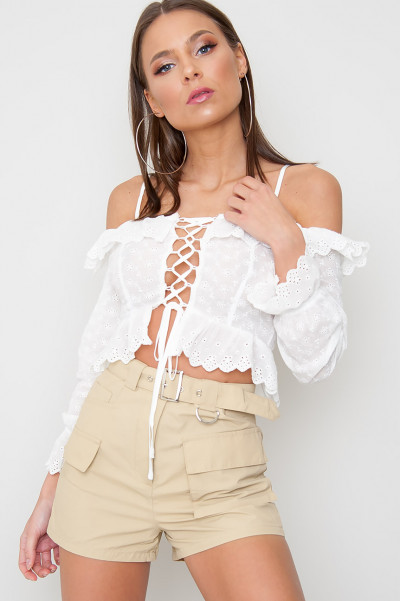 Broderie Off Shoulder Top - Nansi