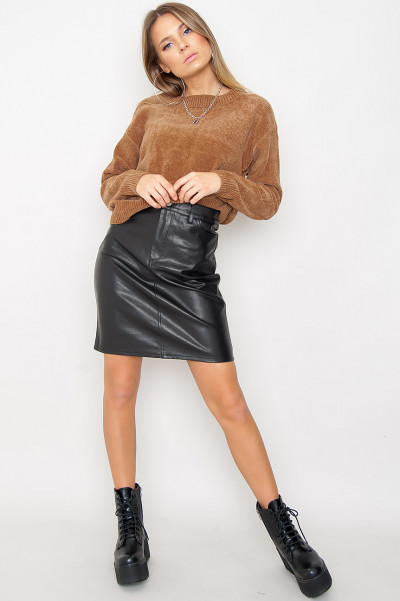 Faux Leather Skirt - Aidan