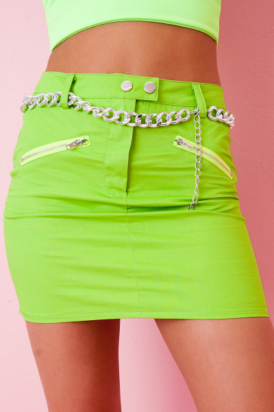 Neon Green Skirt - Rebby