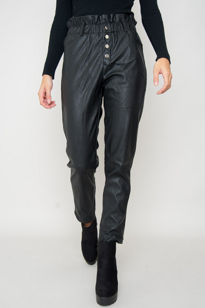 Faux Leather Ankle Pants - Heidi