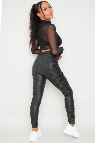 Be Ready Black Ruched Trouser