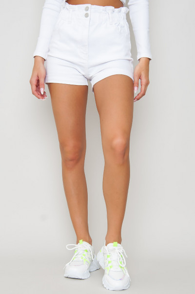 Dubble Button Shorts - Melany Vit