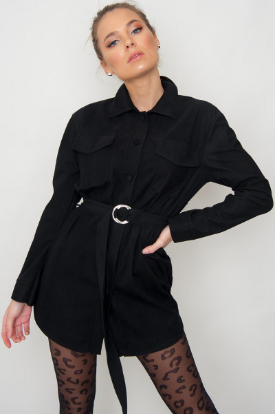 Belted Manchester Shirt - Minnah Black