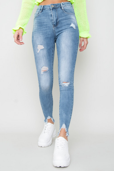 High Waisted Ripped Jeans - Lea