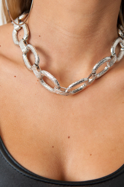 Halsband - Chunky Silver