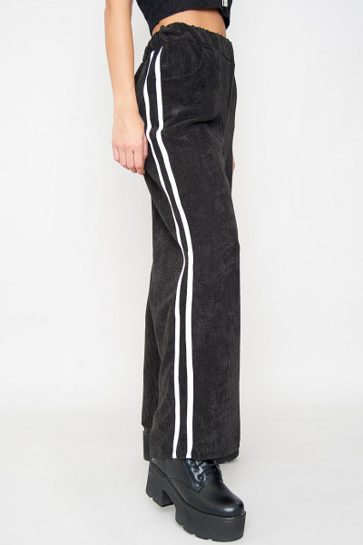 Black Striped Pants - Amina