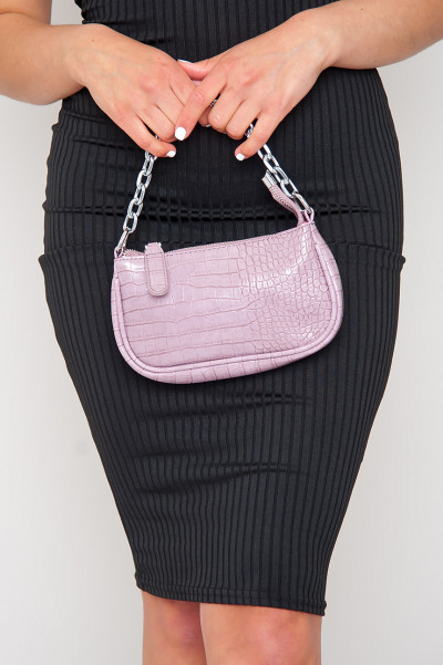 About Deets Baguette Bag Lilac
