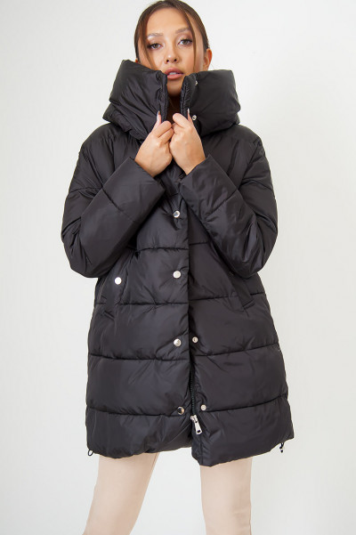 U Are Lucky Hooded Puffer Jacket