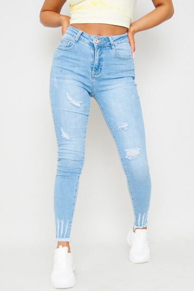 We Are Ripped Skinny Jeans