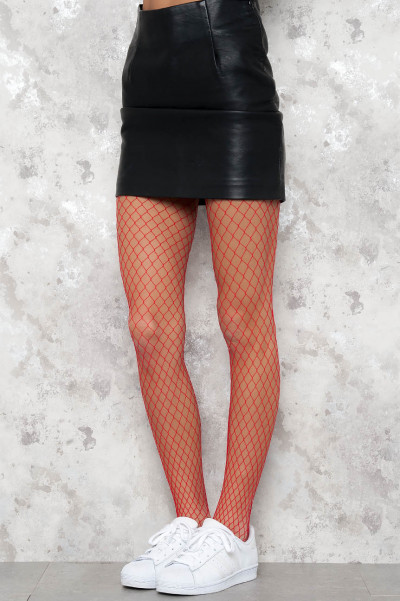 Fishnet Hottie Hot Stockings - Red