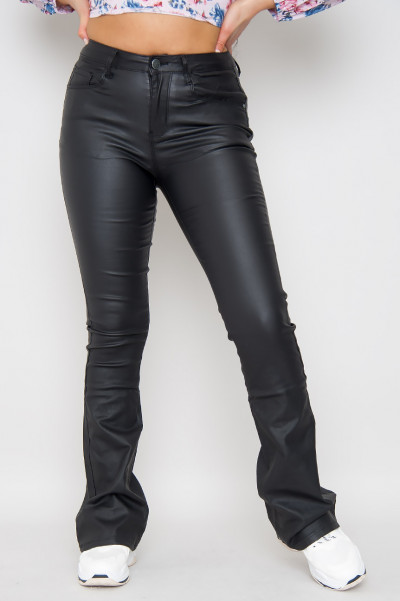 On Repeat Flared Faux Leather Pants