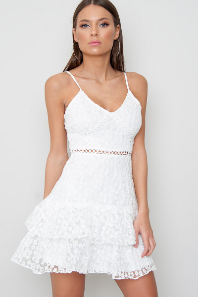 Floral Lace Mini Dress - Shiloh