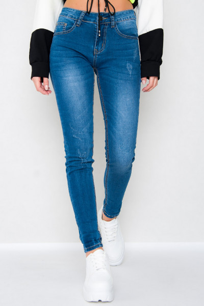 High Waisted Blue Jeans - Swoa