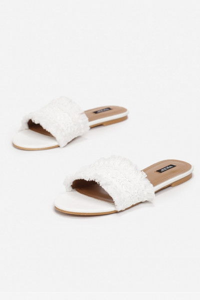 White Beach Slippers