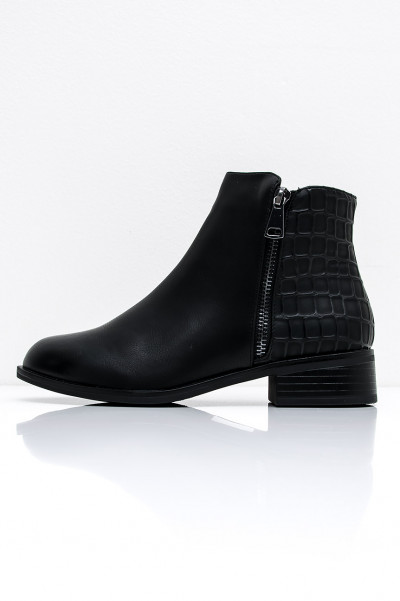 Black Heel Boots - Barry