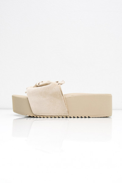 Platform Slippers - Poppy Beige