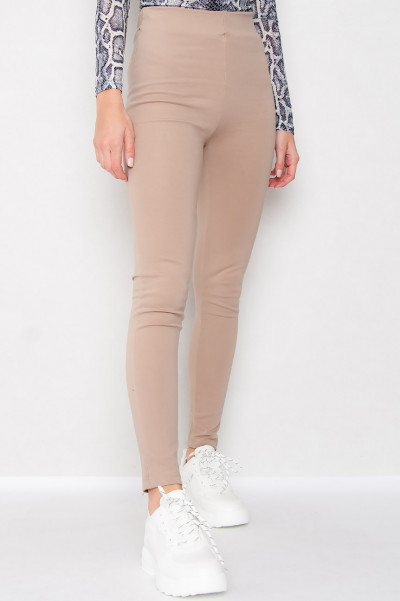 High Waisted Leggings - Kendall Beige