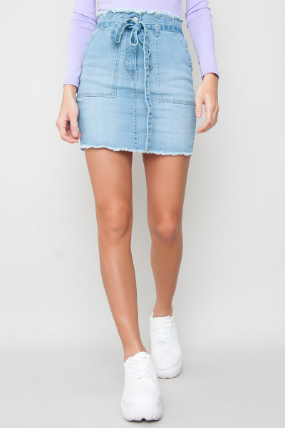 Paperbag Denim Skirt - Ripley