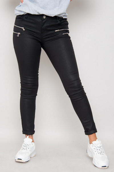 Faux Leather Pants - Eclipse Black