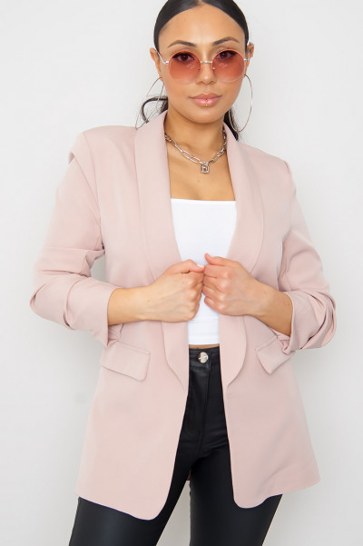 Back To The Office Nude Blazer